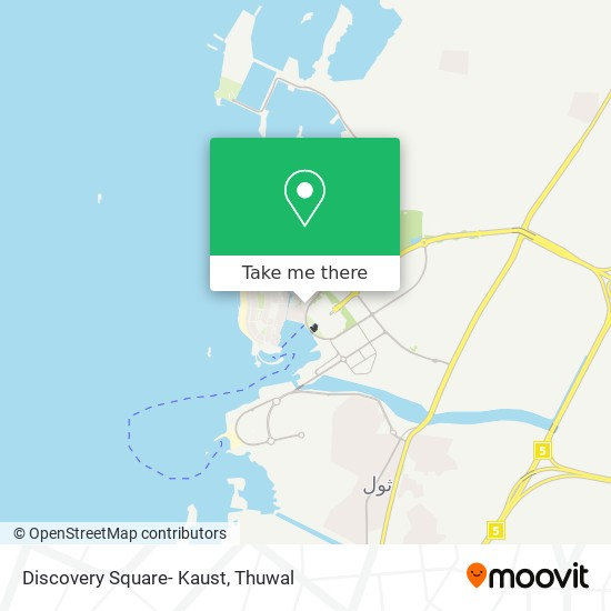 Discovery Square- Kaust map