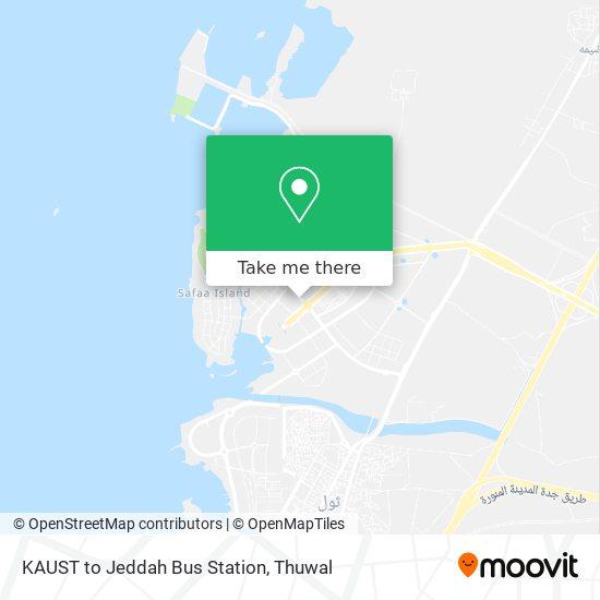KAUST to Jeddah Bus Station map