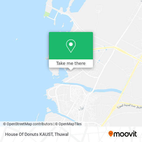 House Of Donuts KAUST map