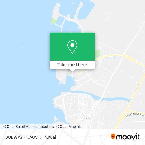 SUBWAY - KAUST map