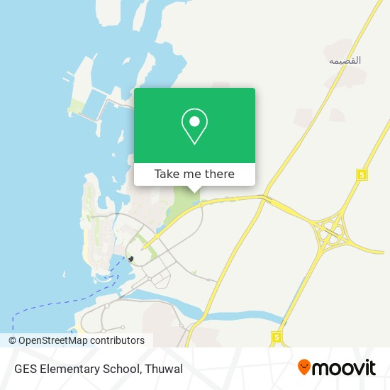GES Elementary School map