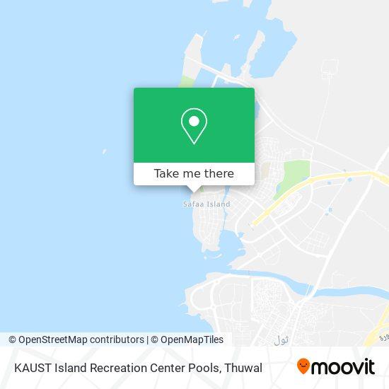 KAUST Island Recreation Center Pools map