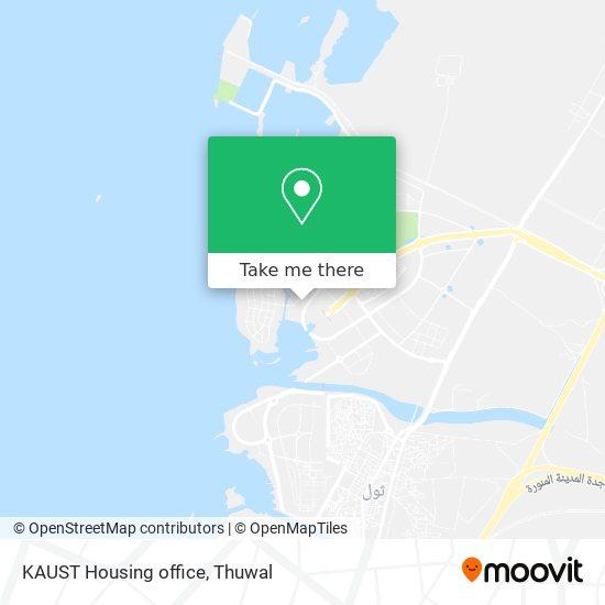 KAUST Housing office map