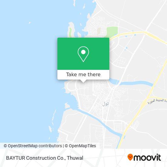 BAYTUR Construction Co. map