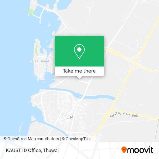 KAUST ID Office map
