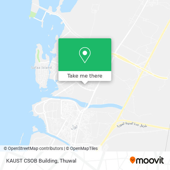 KAUST CSOB Building map