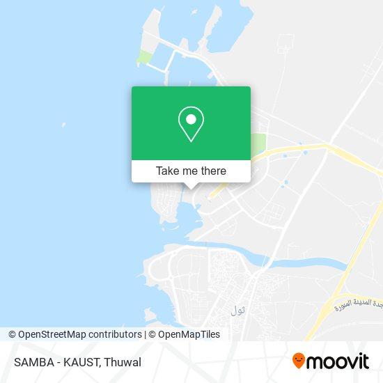 SAMBA - KAUST map
