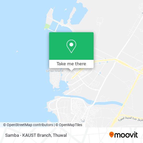 Samba - KAUST Branch map