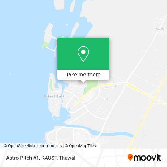 Astro Pitch #1, KAUST map