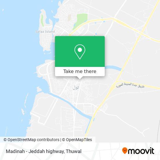 Madinah - Jeddah highway map