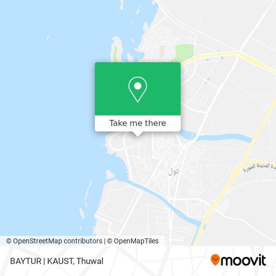 BAYTUR | KAUST map