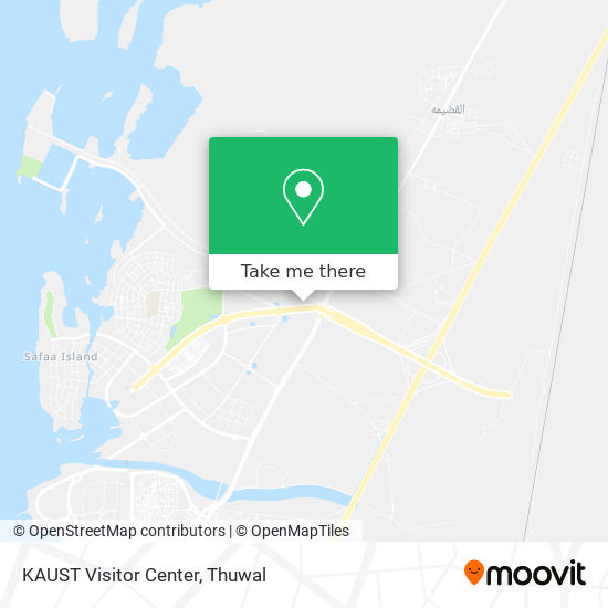 KAUST Visitor Center map