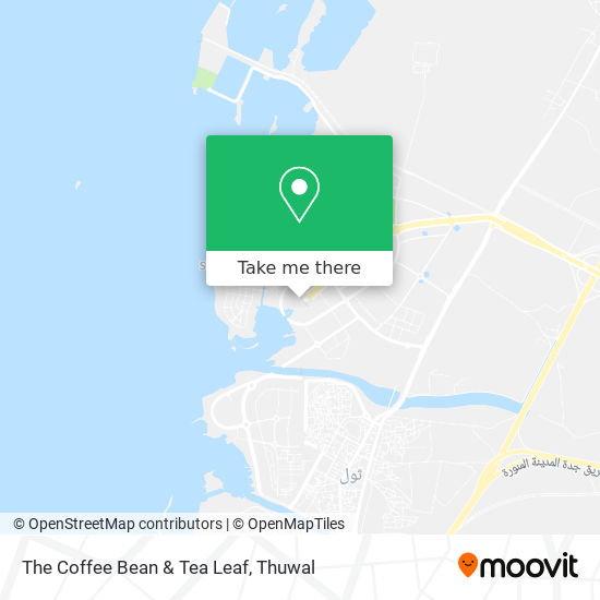 The Coffee Bean & Tea Leaf map