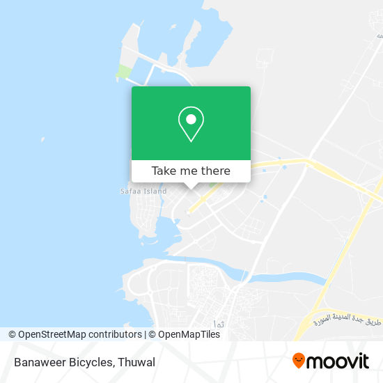 Banaweer Bicycles map