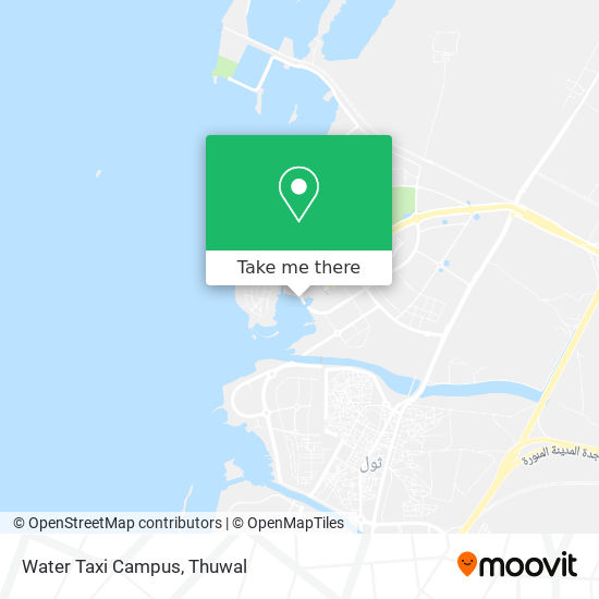 Water Taxi Campus map