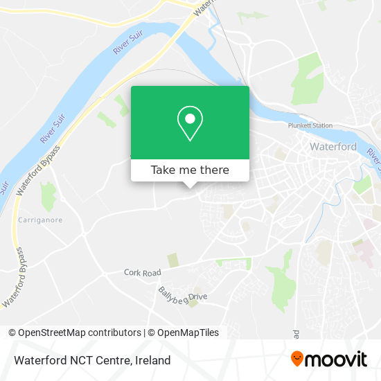 Waterford NCT Centre map