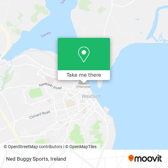 Ned Buggy Sports map