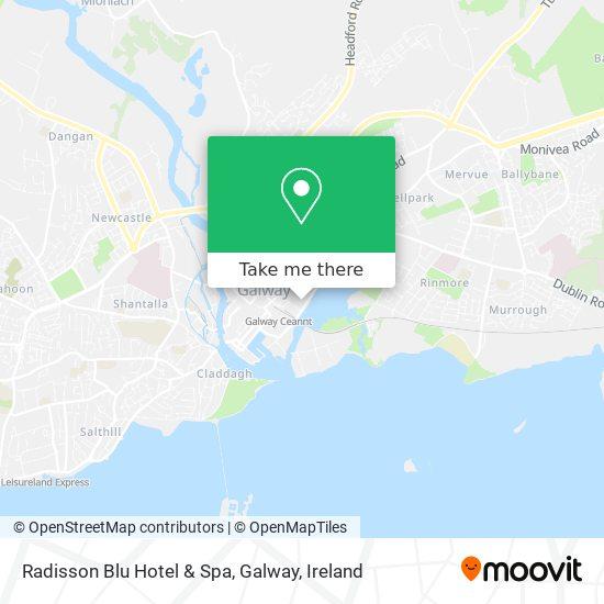 Mapa Radisson Blu Hotel & Spa, Galway