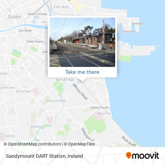 Mapa Sandymount DART Station