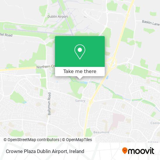 Mapa Crowne Plaza Dublin Airport