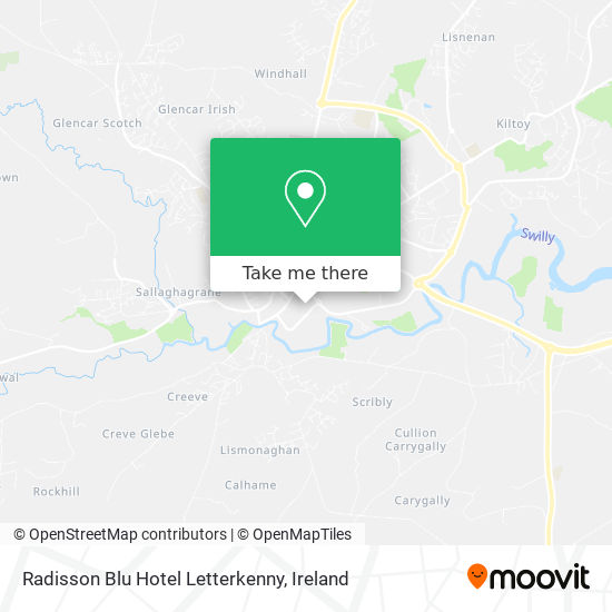 Radisson Blu Hotel Letterkenny map