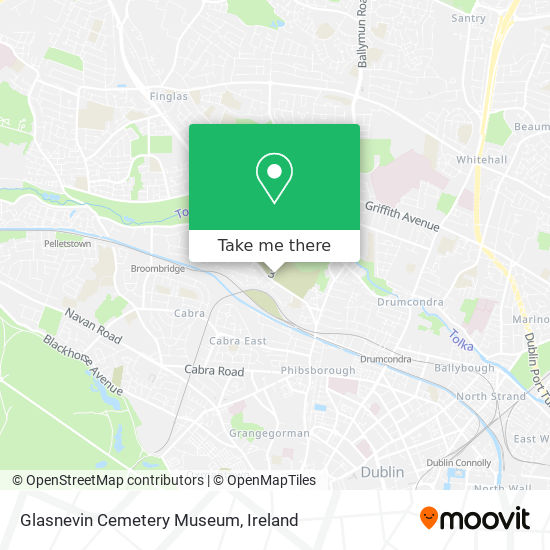 Glasnevin Cemetery Museum map