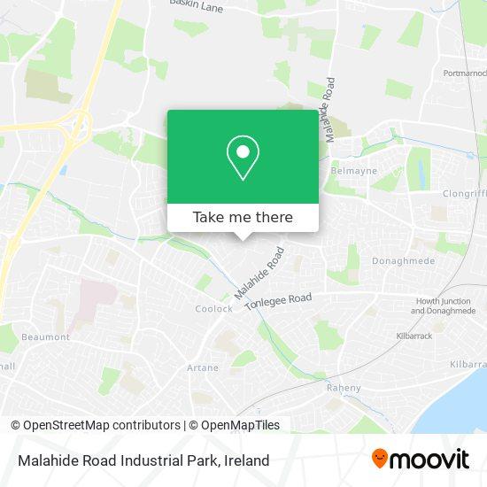 Malahide Road Industrial Park map