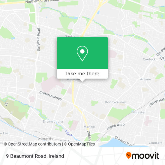 9 Beaumont Road map