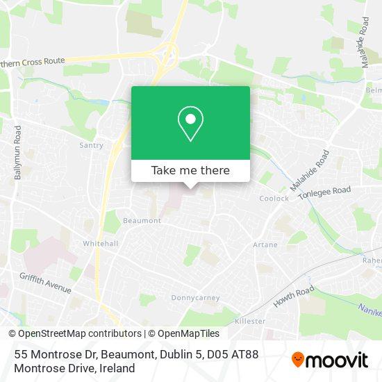 55 Montrose Dr, Beaumont, Dublin 5, D05 AT88 Montrose Drive map