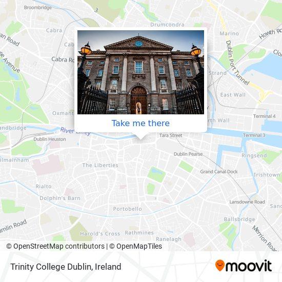 Trinity College Dublin map
