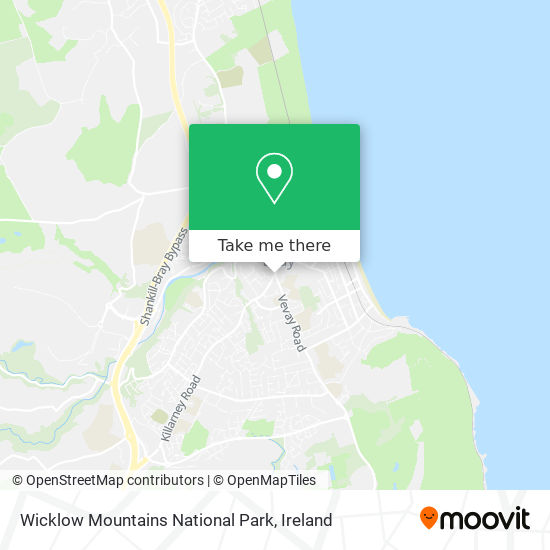 Wicklow Mountains National Park map