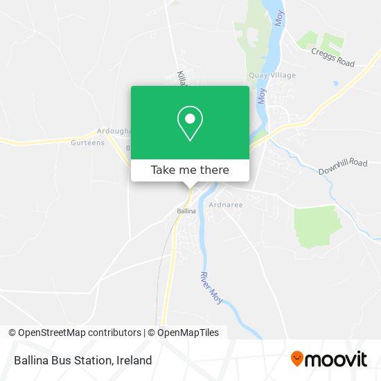 Ballina Bus Station map