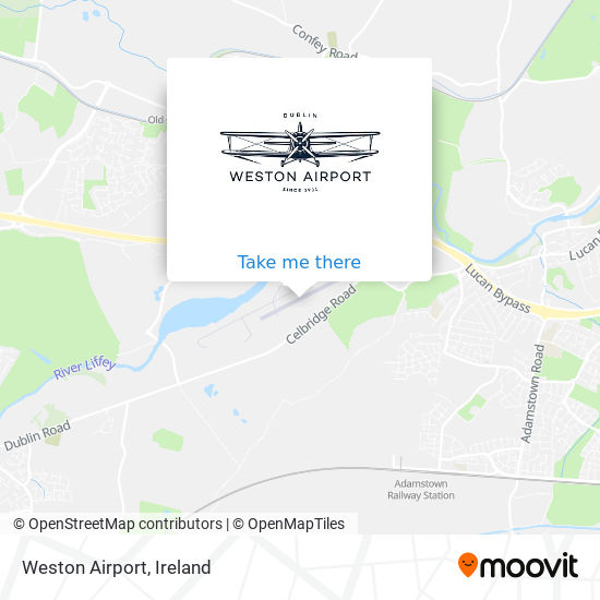 Weston Airport map