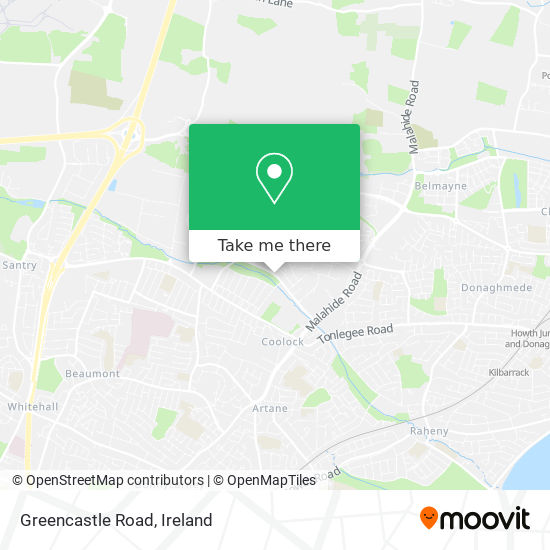 Greencastle Road map