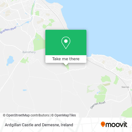 Ardgillan Castle and Demesne map