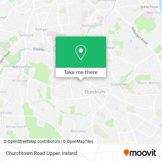 Churchtown Road Upper map