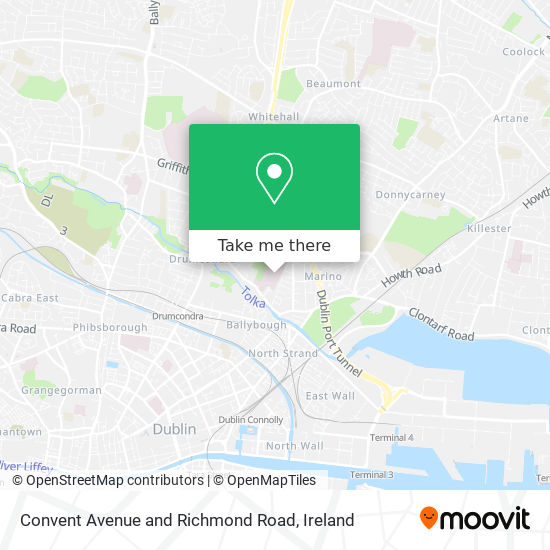 Convent Avenue and Richmond Road map