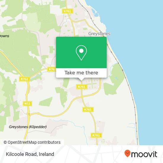 Mapa Kilcoole Road
