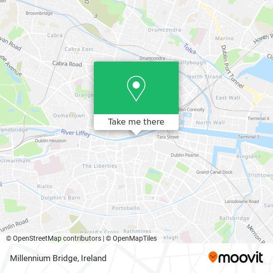 Millennium Bridge map