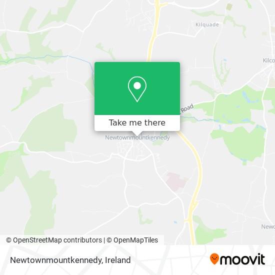 Mapa Newtownmountkennedy