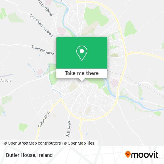 Butler House map