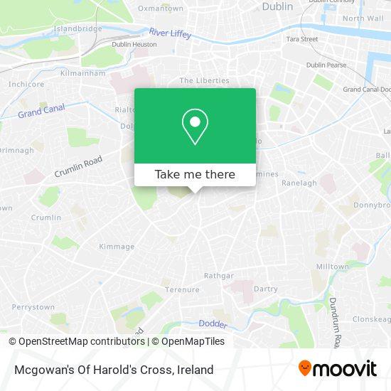 Mcgowan's Of Harold's Cross map