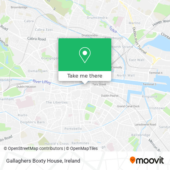 Gallaghers Boxty House map