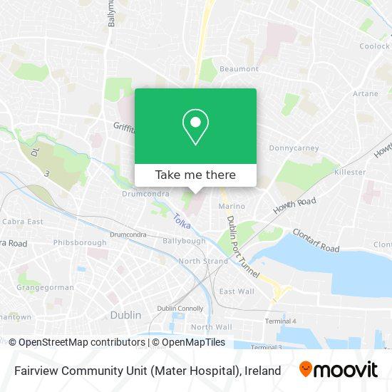 Fairview Community Unit (Mater Hospital) map