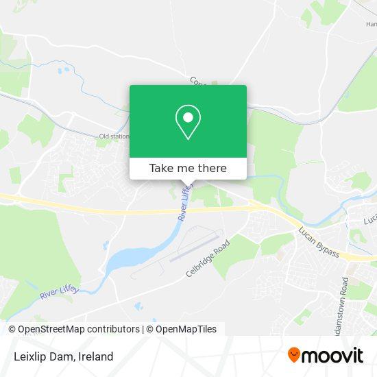 Leixlip Dam map