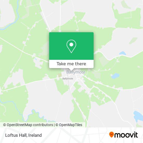 Mapa Loftus Hall