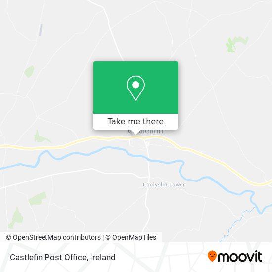 Castlefin Post Office map