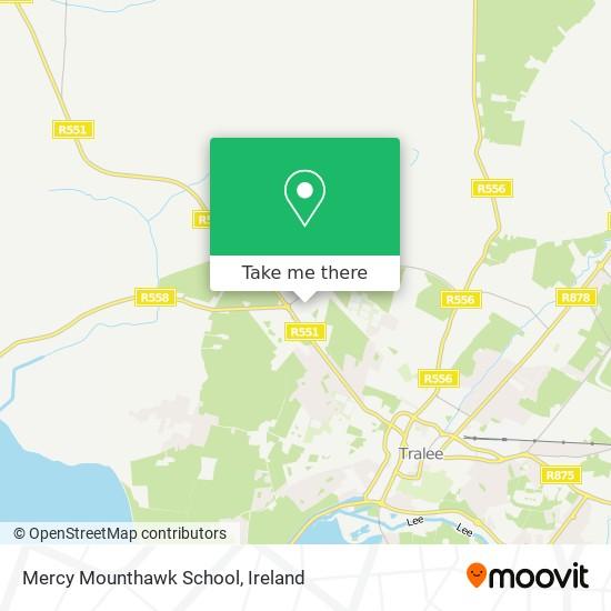 Mercy Mounthawk School map