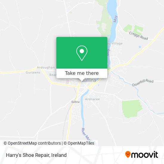 Harry's Shoe Repair map
