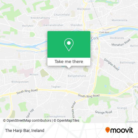 The Harp Bar map